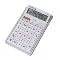 Olympia LCD  3312 Desktop Calculator 12 Digits White / Silver