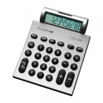 Olympia LCD  308 Pocket Calculator 8 Digits Silver
