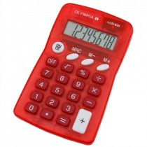 Olympia LCD  825 Pocket Calculator 8 Digits Red
