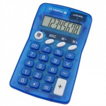 Olympia LCD  825 Pocket Calculator 8 Digits Blue