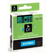 Dymo 40919, D1 Tape,9mm x 7m, Black on Green