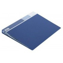 Deli Clear Book A4 20 Pockets E5002, Blue