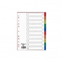 Deluxe Divider Manila Colored A4 with numbers 1-10
