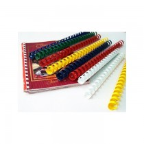 Deluxe 8mm Comb Binding Rings, 100/box, White