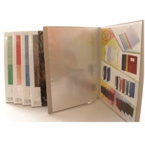 Deluxe Clear Book A4, Assorted Colors, 40 Pockets