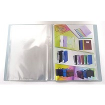 Deluxe Clear Book A4, Assorted Colors, 30 Pockets