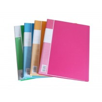 Deluxe Clear Book A4, Assorted Translucent Colors, 10 Pockets