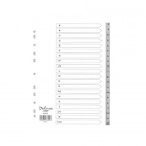 Deluxe Divider Plastic PVC Grey A4 A-Z