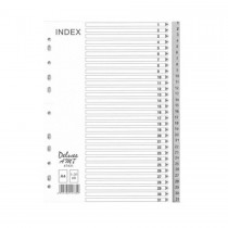 Deluxe Divider Plastic PVC Grey A4 with numbers 1-31