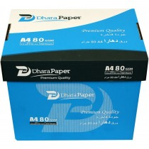 Dhara Photo Copy Paper - 80gsm, A4, White, 5 Ream / Box