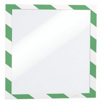 Durable DURAFRAME Security  Magnetic Frame A4  5 pack  Green White