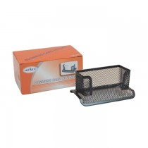 Mesco Black Metal Mesh Business Card Holder