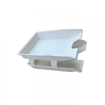 CFM 3120 PVC 2 Tier Document Tray, White