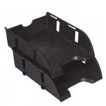 CFM 3128 PVC 2 Tier Document Tray  Black