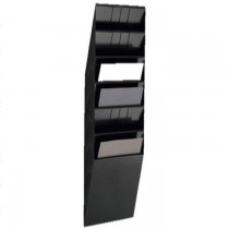 Durable FLEXIBOX 6 A4  Wall Mounted Brochure Holder  6 Tier  Black