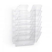 Durable FLEXIPLUS 6 A4  Wall Mounted Brochure Holder  6 Tier  Transparent