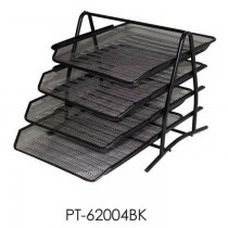 Partner Metal Mesh 4 Tier Document Tray Black