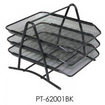 Partner Metal Mesh 3 Tier Document Tray  Black