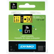 Dymo 45018, D1 Tape,12mm x 7m, Black on Yellow