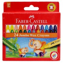 Faber Castell 120040 Jumbo Wax Crayons Round 90mm, 12 Colors