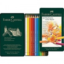 Faber Castell FC110012 Polychromos Artists Color Pencils In Tin, Assorted (12 / Set)