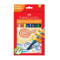 Faber Castell FC120013 Twist Crayons, Assorted (Pack of 12)