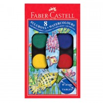 Faber Castell FC125008 Water Color Paint with Brush, 8 Colors