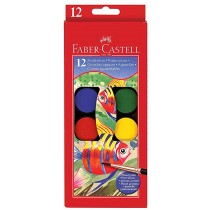 Faber Castell FC125012 Water Color Paint with Brush, 12 Colors