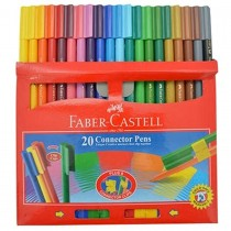 Faber Castell FCI11200 Connector Color Pen, Assorted (Pack of 20)
