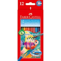 Faber Castell FCI114413 Water Color Pencil, Assorted (Pack of 12)