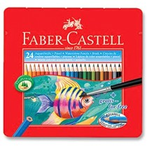 Faber Castell FCI114425 Water Color Pencil, Assorted (Pack of 24)