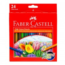 Faber Castell FCI114426 Nature Colour Pencil, Assorted (Pack of 24)