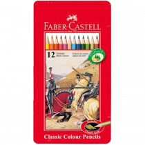 Faber Castell FCI115844 Classic Color Pencil Metal Tin, Assorted (12 / Set)