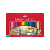 Faber Castell FCI115846 Classic Color Pencil Metal Tin, Assorted (36 / Set)