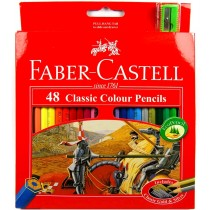 Faber Castell FCI115858 Classic Color Pencil, Assorted (Pack of 48)