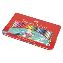 Faber Castell FCI115931 Water Colour Pencil Flat Tin, Assorted (24 / Set)