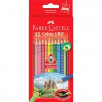Faber Castell FCI116252 Grip Color Pencil, Assorted (Pack of 12)