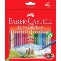 Faber Castell FCI116253 Grip Color Pencil, Assorted (Pack of 24)