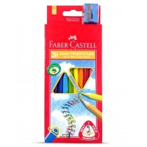 Faber Castell FCI16116538/20 Juniour Triangular Color Pencil, Assorted (Pack of 20)