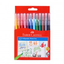 Faber Castell FCI5188BB Brushtip Pen, Assorted (Pack of 12)