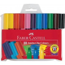 Faber Castell FCI550210 Jumbo Felt Pen Without Connector, Assorted (Pack of 10)