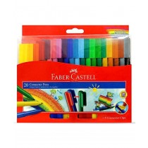 Faber Castell FCI662000/20 Jumbo Connector Pen, Assorted (Pack of 20)
