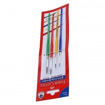 Faber Castell FCIN116401 Tri Grip Paint Brush - Round (Pack of 4)