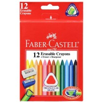 Faber Castell FCIN122713 Erasable Crayon, Assorted (Pack of 12)
