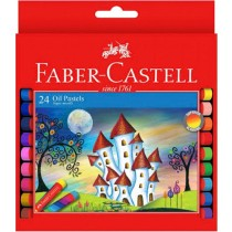 Faber Castell FCIN126024 Oil Pastels - Round, Assorted (Pack of 24)