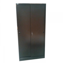 REXEL FULL HEIGHT CUPBOARD SLIDING STEEL WITH 3 ADUSTABLE SHELVES, RXL101SS (BLACK)