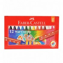 Faber Castell Wax Crayons, Assorted (Set of 12)