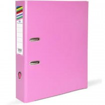 FIS Box File A4 8cm Broad Pink 50/Box