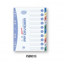 FIS Divider Plastic Colored A4 10 Tabs