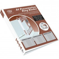 FIS FSBD265DPB Presentation 2-Ring Binder - 65mm Ring, A4, White